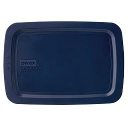 Easy Grab™ 2-qt Oblong Storage Plastic Lid  Blue
