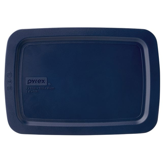 Easy Grab 2-qt Oblong Storage Plastic Lid, Blue