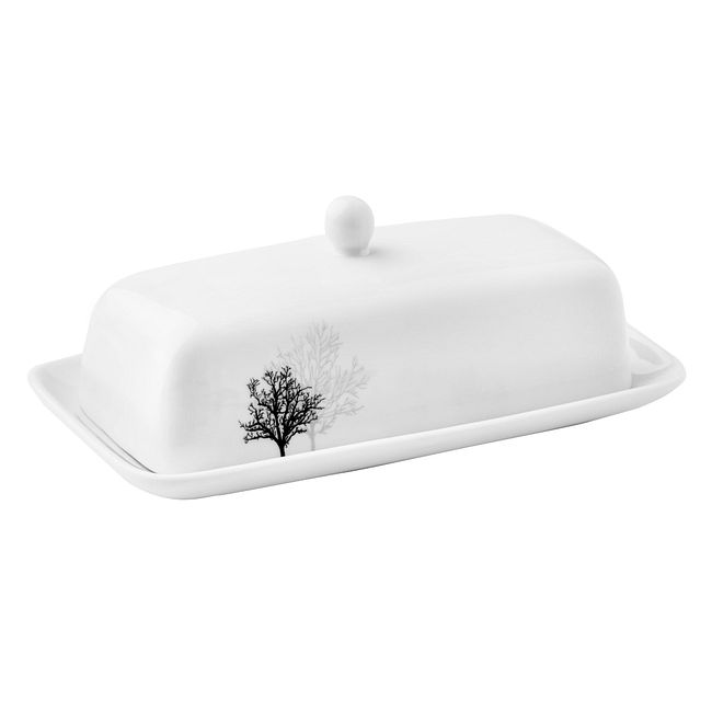 Butter Dish Coordinates w/ Corelle Timber Shadows