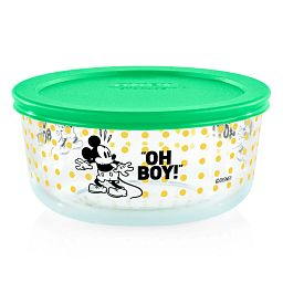 Pyrex Mickey Mouse Oh Boy! 4 cup decorated storage
