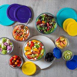 Love 18-pc Storage Set Overhead View with Food