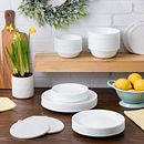 Winter Frost White 66-piece Dinnerware Set, Service for 12
