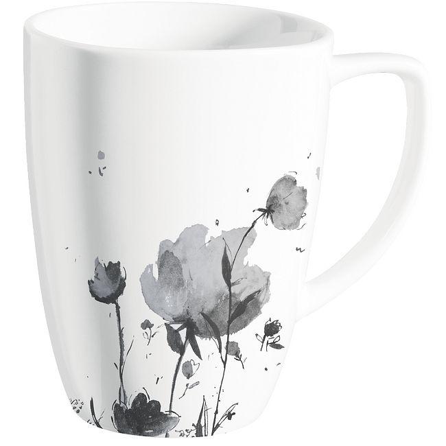 Square Fleurs Du Soir 12-oz Porcelain Mug