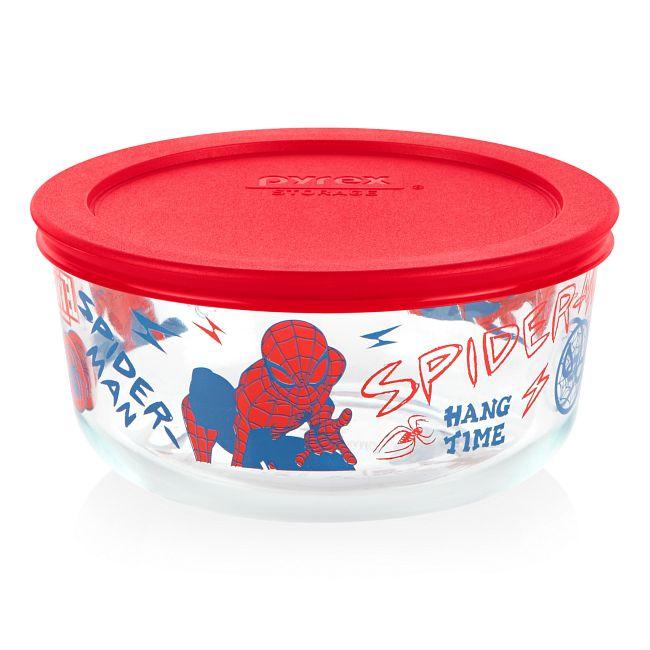Marvel Spider-Man 4-cup Round Glass Storage