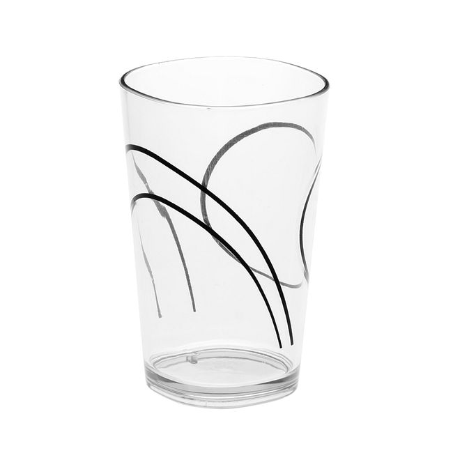 Simple Lines 8-ounce Acrylic Drinking Glass