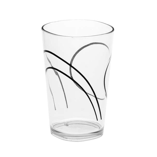 Simple Lines 8-ounce Drinking Glass