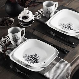Timber Shadows 16-pc Dinnerware Set on the table
