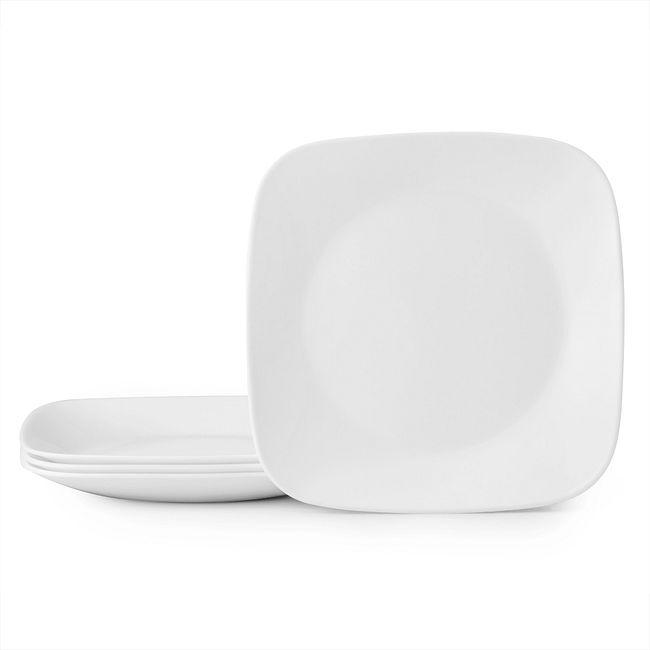 "Boutique Vivid White 9"" Plate Set, 4-pk"