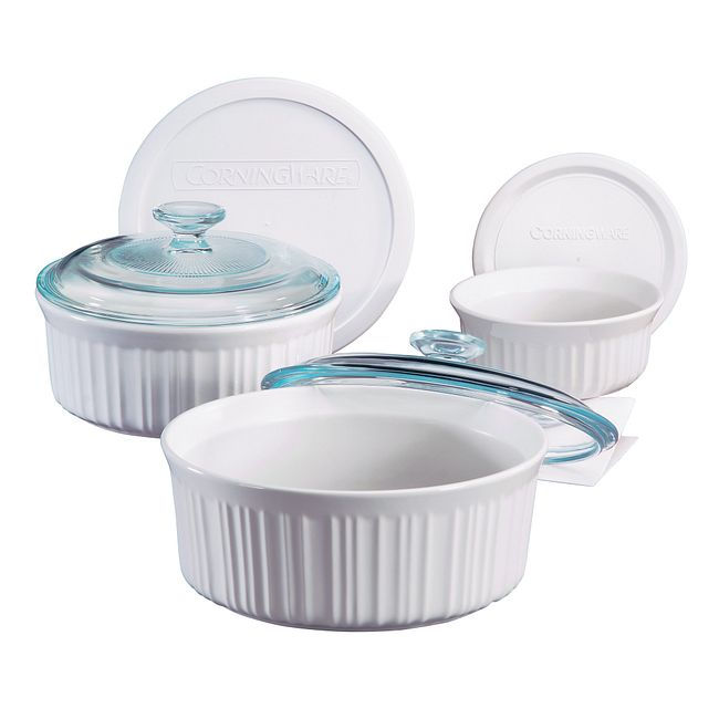 French White 6-pc Bakeware Set