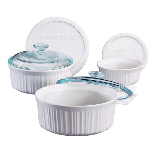 French White 6-pc Bakeware Set