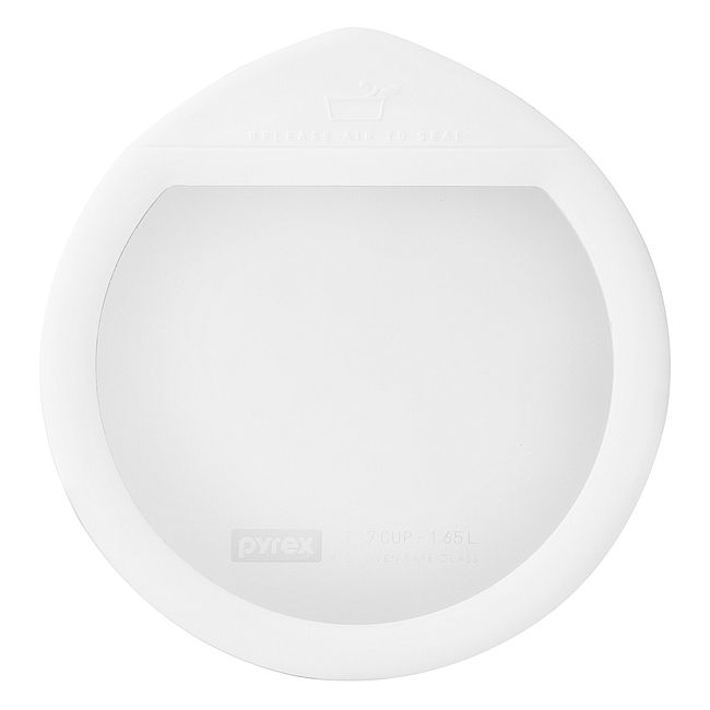Ultimate 7 Cup Round Glass Storage Lid, White