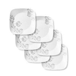"Night Blooms Gray 10.5"" Dinner Plate, 6-pk"