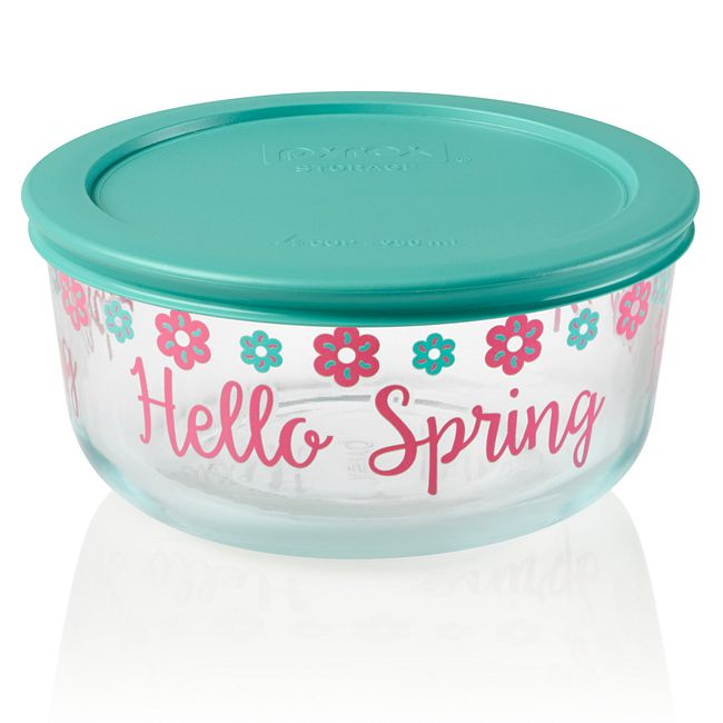 Simply Store 4 cup Hello Spring Storage Dish w/ Lid