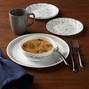 Prairie Garden Gray 16-piece Dinnerware Set, Service for 4