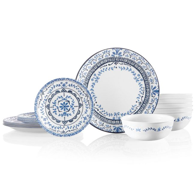 Portofino 18-piece Dinnerware Set, Service for 6