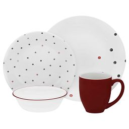 Polka Dottie 16-piece Dinnerware Set, Service for 4