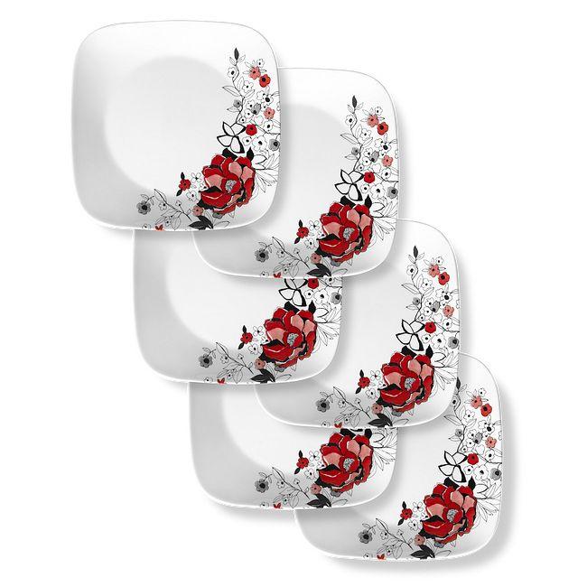 """Chelsea Rose 10.5"""" Dinner Plates, 6-pack"""