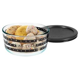 Christina Tosi 4 Cup Metropolitan Rings Storage Dish w/Cookies in Bowl