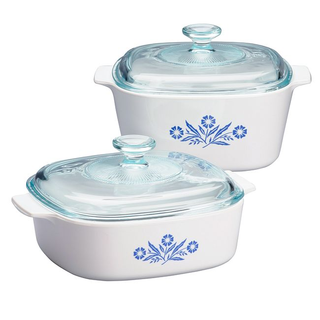 Blue Cornflower 4-piece Casserole Set