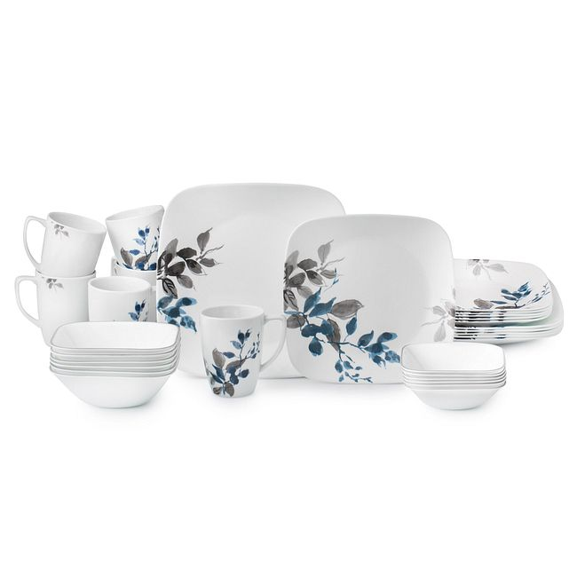 Kyoto Night 30-piece Dinnerware Set, Service for 6