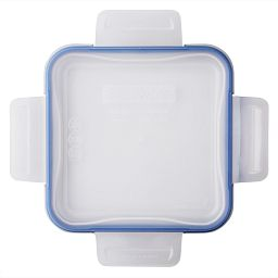 Total Solutions™ Square Medium Plastic Lid w/ Blue Seal