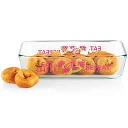 Sloth 3-cup Glass Food Storage Container with donuts inside