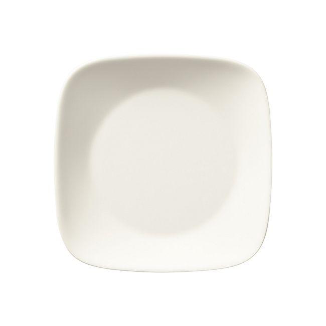 """Warm White 6.5"""" Square Plate"""