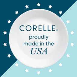 Text that says Corelle proudly made in the USA