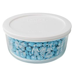Simply Store® 4 Cup Butterprint White Storage Dish w/Candies