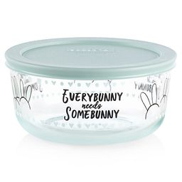 Every Bunny Needs Somebunny Blue 4-cup Food Storage Container with Lid