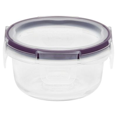 Total Solution Pyrex Glass 1-cup Food Storage, Round
