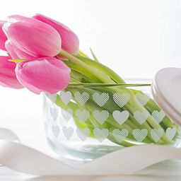 Simply Store 4 Cup White Hearts Storage Dish w/Tulips