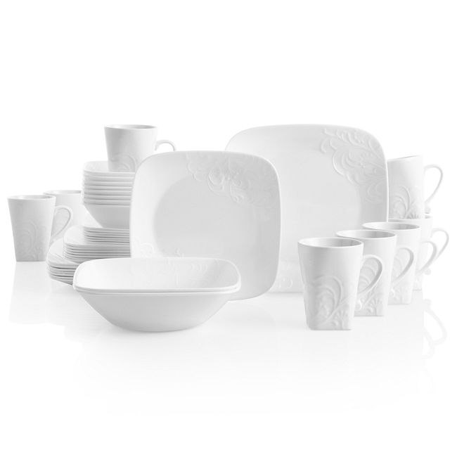 Cherish 42-piece Dinnerware Set, Service for 8