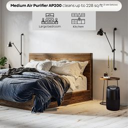 Instant Air Purifier, Medium, Charcoal