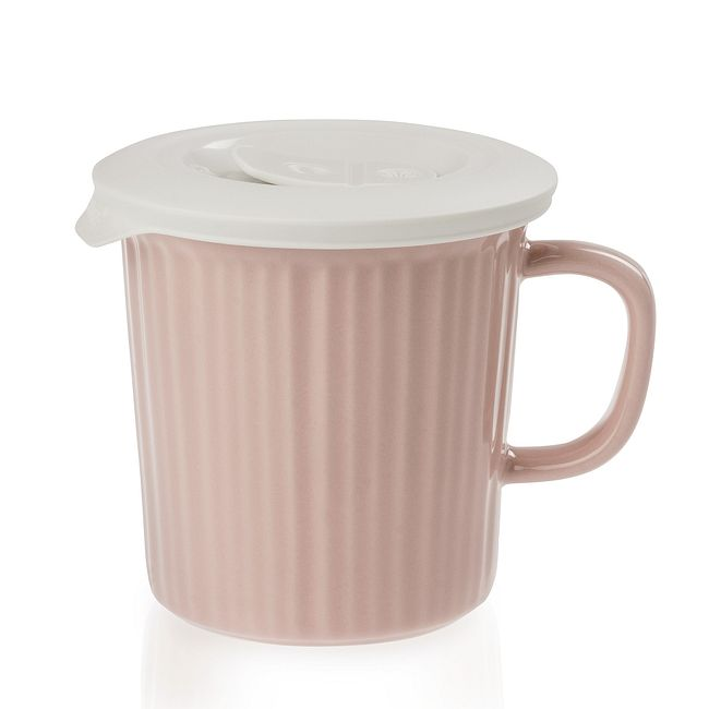 Blush 24-ounce Meal Mug™ with White Lid