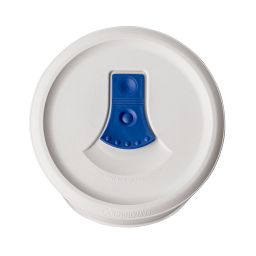 French White® Pop-Ins® 16-oz Casserole Vented Lid top view