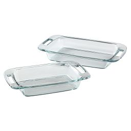 Easy Grab 2-pc Oblong Baking Dish Set