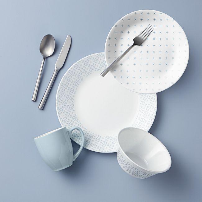 Farmstead Blue 16-piece Dinnerware Set, Service for 4
