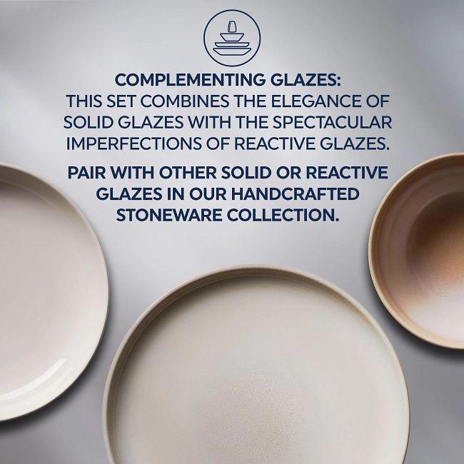 Stoneware 12-piece Dinnerware Set, Service for 4, Oatmeal