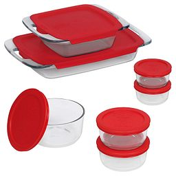 Easy Grab Bake 'N Store 14-pc Set, Red