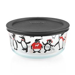 Just Chillin' 4-cup Glass Food Storage Container with Black Lid