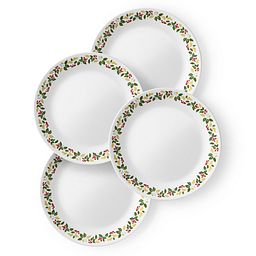 "Classic Holiday Berries 10.25"" Plate Set  4-pk"