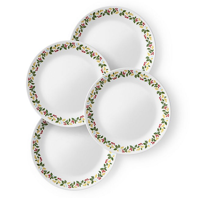 "Holiday Berries 10.25"" Dinner Plates, 4-pack"