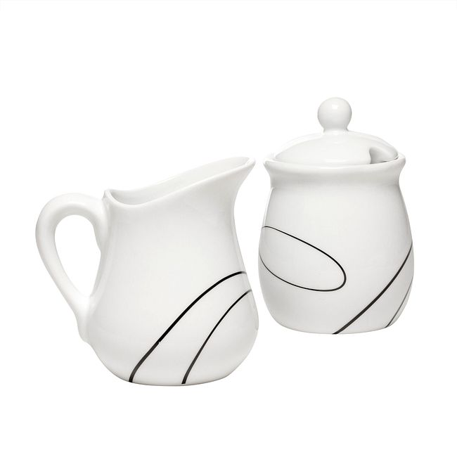 Simple Lines Sugar & Creamer Set
