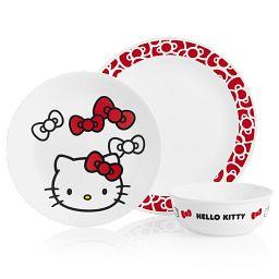 Hello Kitty 3-pc Dinnerware Set
