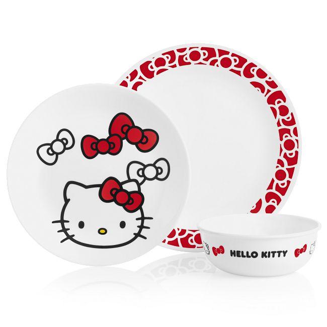 Hello Kitty 3-piece Dinnerware Set