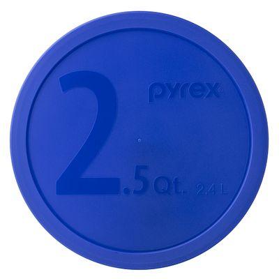 Pyrex 2.5-Qt Round Plastic Lid, Blue - 1113841