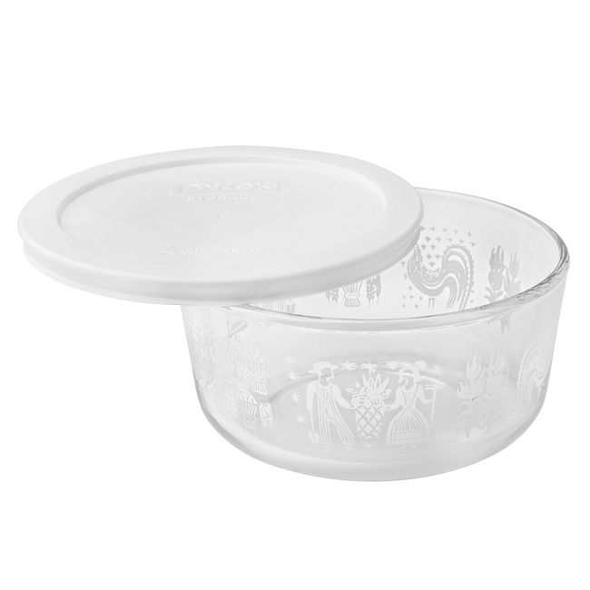 Simply Store 4 Cup Butterprint White Storage Dish w/ Lid