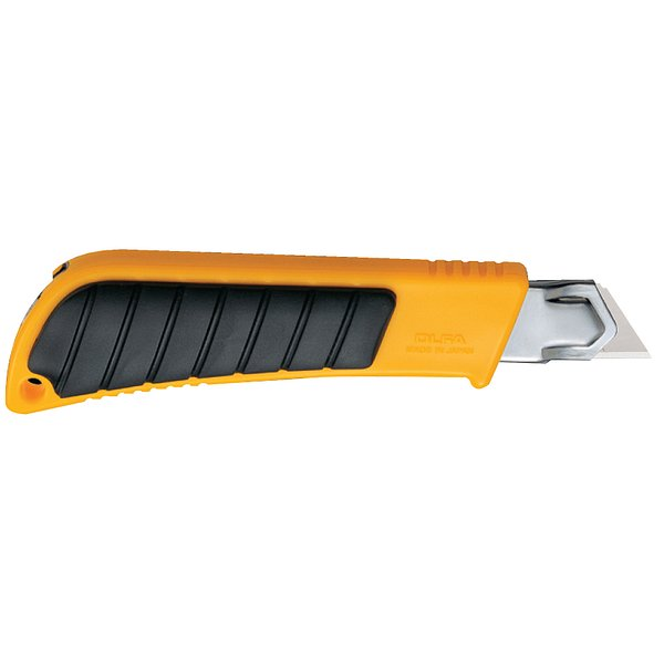 18mm Pistol-grip Ratchet-lock Utility Knife with Rubber-grip Inset (L-2)
