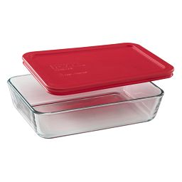 Simply Store® 3 Cup Rectangular Storage Dish w/ Red Lid